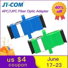 100 шт./пакет SC APC симплексный режим волоконно-оптический адаптер UPC оптоволоконный кабель SC-SC оптоволоконный фланец разъем для ПК ftth Бесплатная доставка