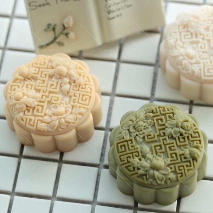4PCS Dollhouse Miniture Food Moon Cakes Chinese Mid-Autumn Festival Food