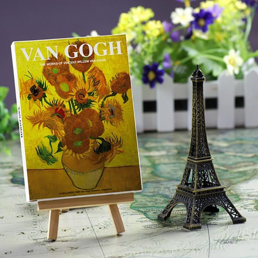 30 PCS/Set Famous Painter Oil Painting Postcard Sunflower, Starry Night, Self-portrait, Iris Flower Postcard Greeting Card