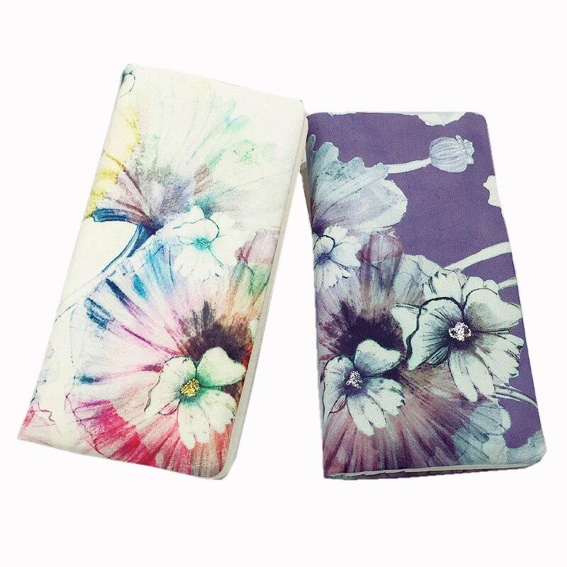 Женский кошелек из натуральной кожи, Длинный дизайнерский кошелек с цветочным принтом, чехол для заметок, кошелек для монет, кошелек для клю