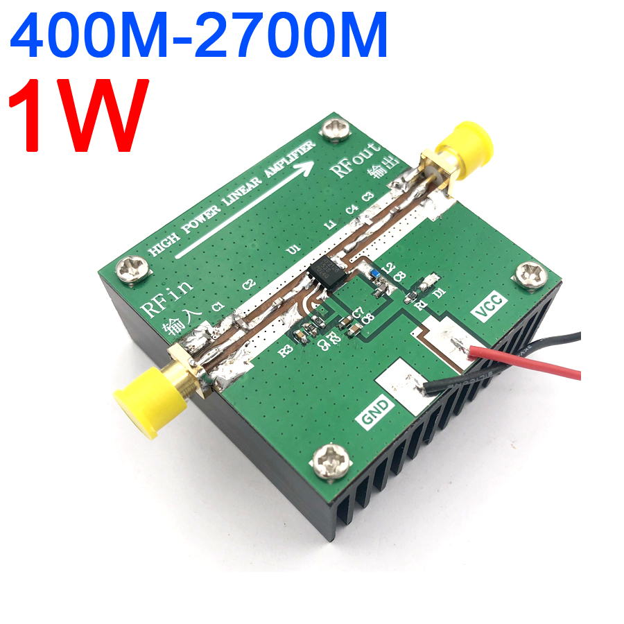 RF2126 400MHZ 2700MHZ broadband RF Power Amplifier 2.4GHZ 1W FOR WIFI Bluetooth Ham Radio Amplifier with heat sinkIntegrated Circuits   -
