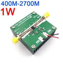 Rf2126 400 mhz 2700 mhz 광대역 rf 전력 증폭기 방열판이있는 wifi bluetooth ham 라디오 증폭기 용 2.4 ghz 1 w
