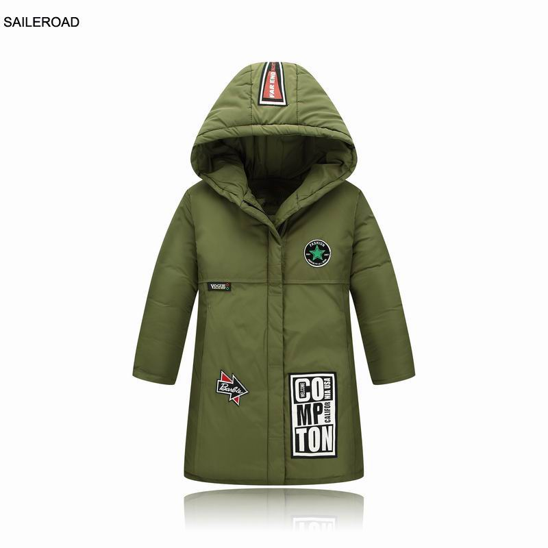 SAILEROAD 5-13Year Children Clothing Outerwear Coats Kids White Duck Down Jacket For Winter Lengthen Boys Girls Wear -30 DegreeSAILEROAD 5-13Year Children Clothing Outerwear Coats Kids White Duck Down Jacket For Winter Lengthen Boys Girls Wear -30 Degree