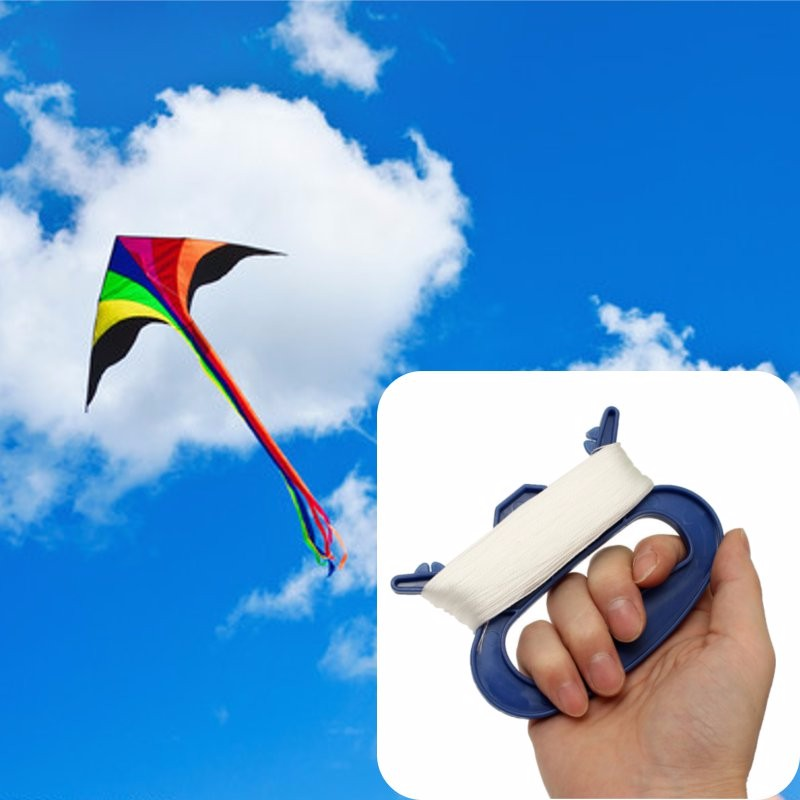 3050100m-Outdoor-Sports-Flying-Tools-Kite-Parts-Line-String-w-D-Shape-Winder-Handle-White-Line-Kites-Accessory-Reel-Board-5