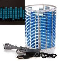 LED Lamp Lichtblauw Auto Muziek Rhythm Sticker Equalizer 90x25 cm