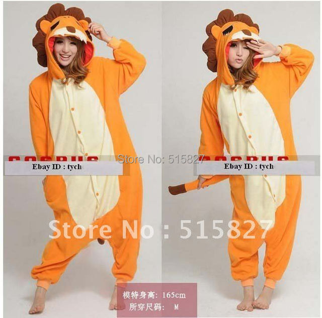 ... sale retailer 1da27 11f68 Hot JP Anime Animal Pajamas Lion Cosplay  Costume Adult Pyjamas Hoodies Party ... e101c84f8238b