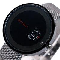 Cool Unique Turntable Sport Wrist Watch Special Design Quartz Clock Men Women Round Dial Stainless Steel