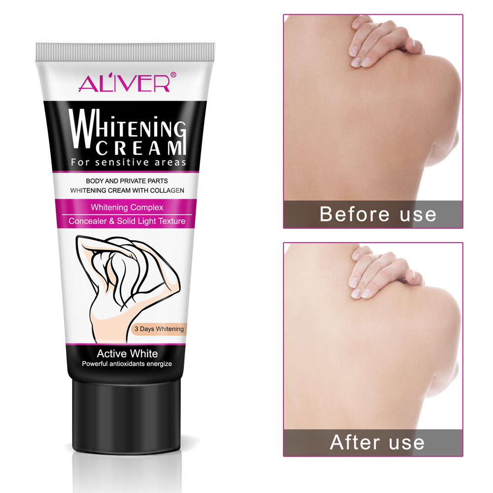 Sincere Hot Sale 60ml Armpit Whitening Repair Creams Between Private Parts Armpit Elbow Knee Legs Armpit Whitener Intimate Convenience Goods Scrubs & Bodys Treatments Bath & Shower