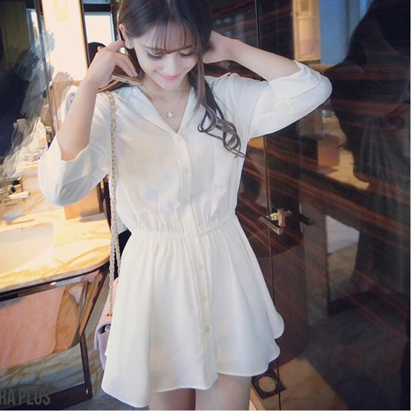 Women 39 s Summer Sexy Korean Style Streetwear White Mini Dress Ladies 2019 Elegant Bodycon Beach Office Dresses Female Clothes in Dresses from Women 39 s Clothing