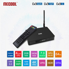 2019 MECOOL K6 Smart TV Box DVB-S2 DVB-T2 DVB-C Android 7.0 HiSilicon HI3798M 2GB+16GB Media player Dual Wifi Set Top Box(China)
