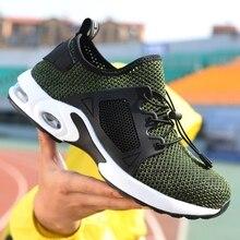 Большие размеры 40-48; безопасная обувь со стальным носком; летняя дышащая легкая Нескользящая повседневная обувь