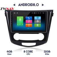 4G+32G Octa Core Android 8.0 car multimedia player gps navigation video 2 din car audio for Nissan X TRAIL Qashqai Dualis Rouge