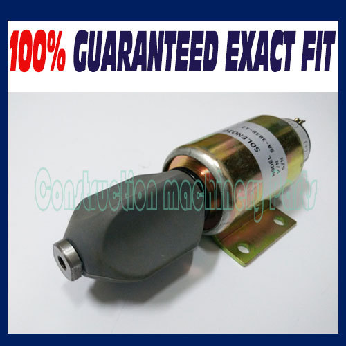 Free fast shipping, shutdown solenoid for SA-3838 (12V  3 terminals) 3924450 2001es 12 fuel shutdown solenoid valve for cummins hitachi