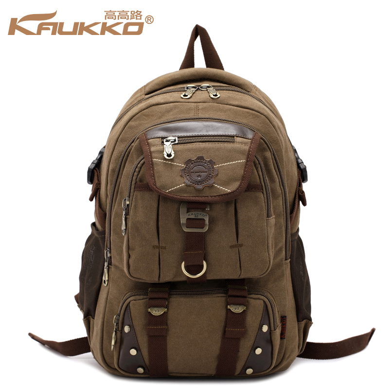 Bags Canvas Bag Han Edition Backpack Tide Male Bag Recreational Canvas Backpack