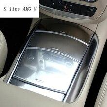 Автомобильный Стайлинг, центральная консоль, коробка для хранения, держатель стакана воды, панель, крышка, наклейка, Накладка для Mercedes Benz R Class W251 R300 320 350 400