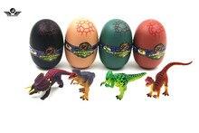 Над ним 4 шт. Динозавров Дино Части XIII 4D 3D Головоломки яйцо Модель Комплект DIY Воспитательная Игрушка Дино Головоломка, в jurassic яйцо