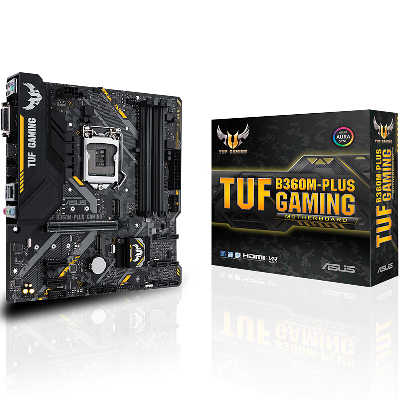 ASUS TUF B360M-PLUS GAMING Motherboard Intel LGA1151 B360 Chipset DIMM DDR4 Support i7 8700 8700K 8500 CPU Original Package image