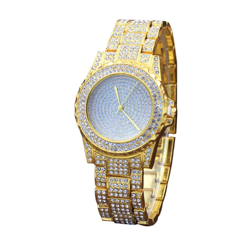 Full Diamond Watches For Women Luxury Crystal Stainless Steel Band Quartz Watch Bracelet Lady Elegant Dress Clock Wristwatch #Ni weiqin new 100% ceramic watches women clock dress wristwatch lady quartz watch waterproof diamond gold watches luxury brand