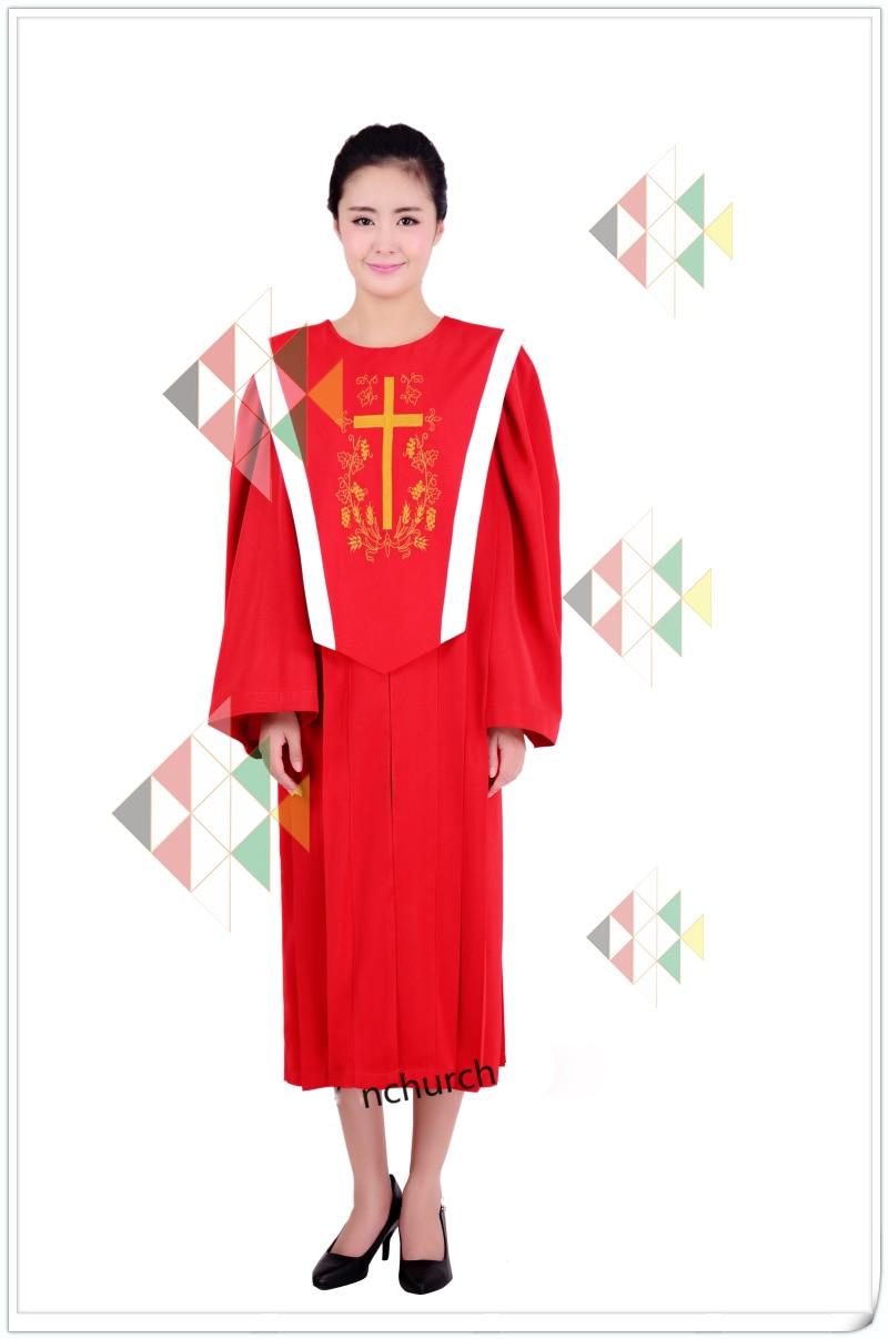 Hallelujah Blue Red Choir Gown Church Sing Robe Clergy Vestments European standard Church Dress a livello europeo la chiesa-in Asia & Pacific Islands ...