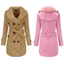 SWYIVY Woolen Coat Ladies Winter Long For Woman 2019 Womens Trench Jackets Women Elegant Coats Female