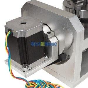 Image 5 - CNC נתב מכונת רוטרי שולחן 4th & 5th סיבובי ציר עם צ אק & 57 2 שלב 250 oz  ב מנוע צעד