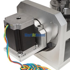 Image 5 - CNC Router Machine Rotary Table 4th & 5th Rotational Axis with Chuck & 57 2 Phase 250 oz in Stepper Motor