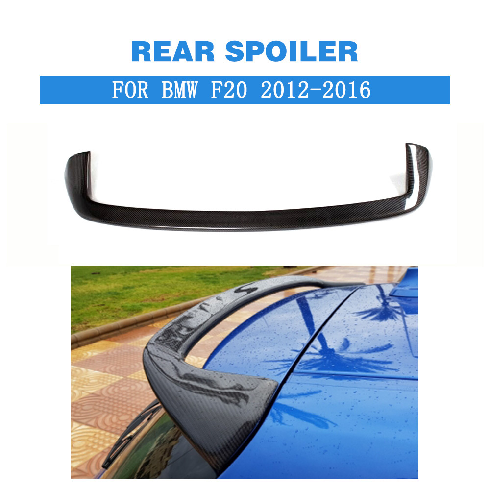 For <font><b>BMW</b></font> <font><b>F20</b></font> F21 Spoiler 2012 - 2018 1 Series 116i 120i <font><b>118i</b></font> M135i Carbon Fiber for <font><b>F20</b></font> Rear Roof Spoiler FRP Grey image