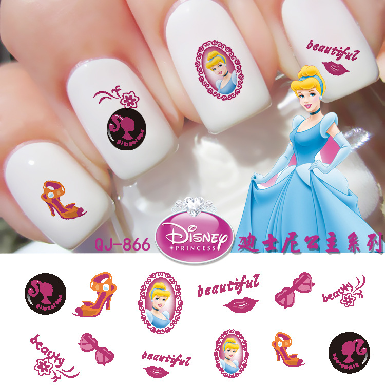 3sheet 12 Type Snow And Ice Princes Children Nail Art Sticker Designs Wraps Stickers Decals Makeup Tattoos Manicure In From