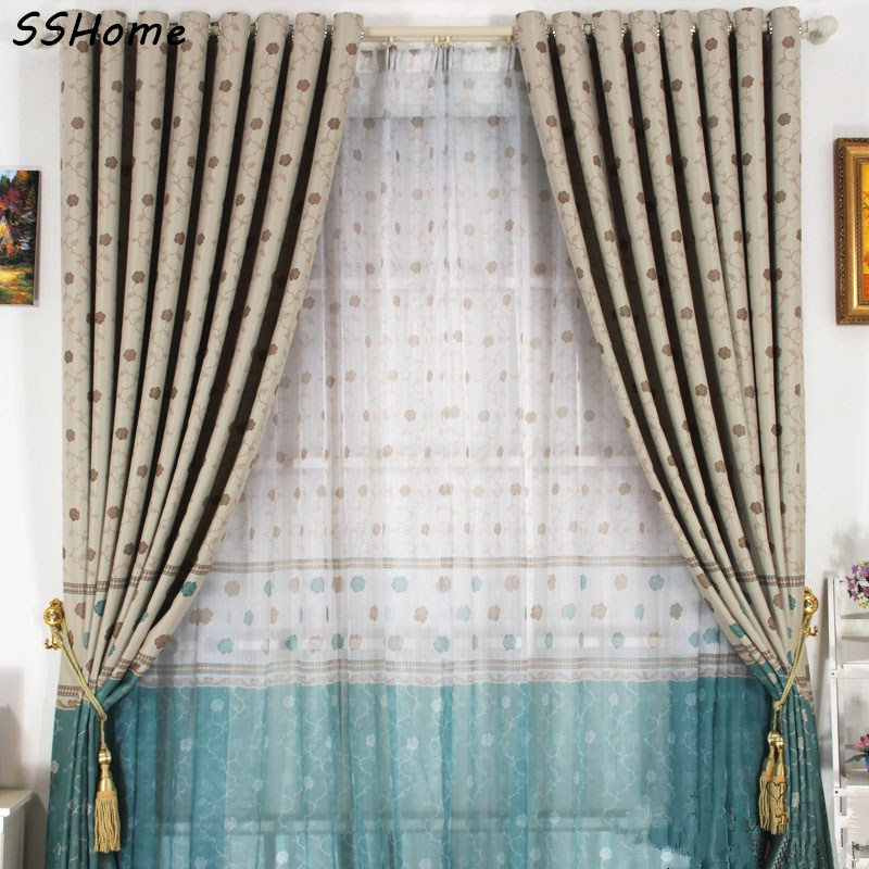 Double Faced Print Window Curtains Shade Cloth Fresh Rustic Small Flower  Patchwork Child Real Curtain Modern Brief Elegant In Curtains From Home U0026  Garden On ...