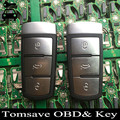Original Size Smart Remote Key Card 3 Buttons 433MHZ With ID46/ID48 Chip For Volkswagen VW Magotan/CC/Passat FCC ID 3C0959752BA