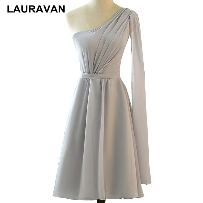 robe de soiree simple school one shoulder grey semi formal sweet 16 corset gray homecoming party dresses girls teens gowns