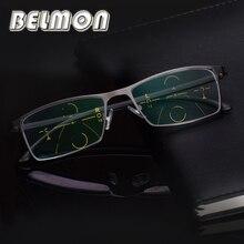 BELMON 다 초점 프로 그레시브 독서 안경 남성 디옵터 안경 노안 안경 + 1.0 + 1.25 + 1.50 + 1.75 + 2.00 + 2.25 + 2.5 RS318
