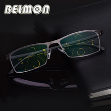 BELMON Multi Focal Progressive Reading Glasses Men Diopter Eyewear Presbyopic Eyeglasses +1.0+1.25+1.50+1.75+2.00+2.25+2.5 RS318