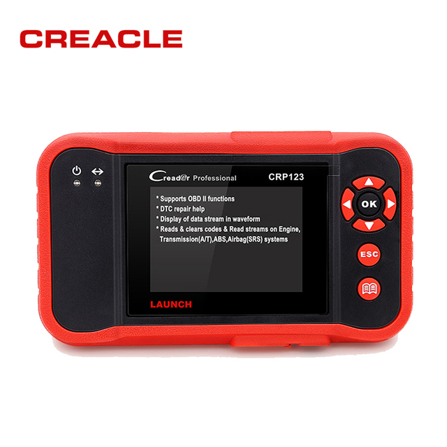 Cheap LAUNCH Creader CRP123 Code Scanner Creader Support for Multi Brand Car Diagnostic-Tool CRP 123 Reader 7+ Car Scan