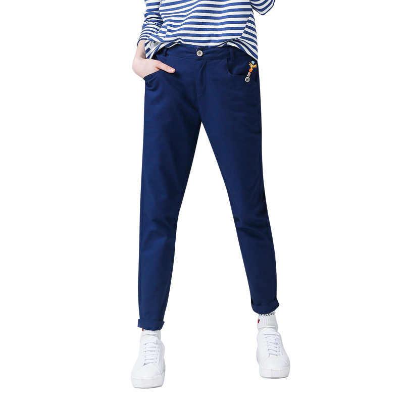 Toyouth harem pantolon Kadınlar 2019 Sonbahar Rahat Zürafa Baskılı Bayan Pantolon Kadın Fermuarlı Gevşek Tam Boy Pantolon