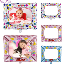 FENGRISE 1PCS Aluminum Foil Balloon Photobooth Frame For Birthday Party Decoration Air Photo Artifact Boy And Girls