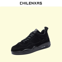 CHILENXAS Spring Autumn Pig Suede Shoes Men Height Increasing Casual Lace-up Light Breathable Waterproof Solid 2017 New Fashion