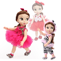 Модные Аксессуары Куклы 40 см Куклы Dress Leopard Одежда Набор Платье Принцессы 13 Цвета Зебры Кукла юбки Девушки кукла Подарок