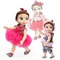 Acessórios de moda bonecas 40 cm doll dress leopard roupas set vestido de princesa 13 cores boneca zebra saia tutu meninas boneca de presente