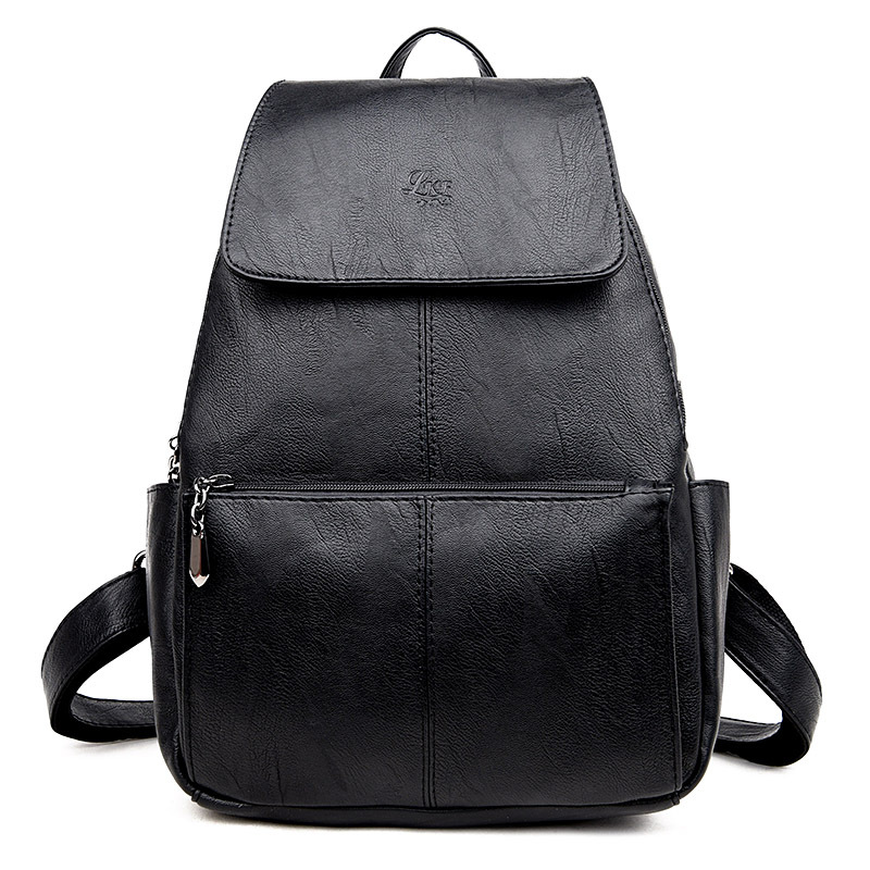 Fashion Korean Women Backpack College Wind Schoolbag Leather Woman Backpack Preppy Style Female Travel Bag Girl Mochila Backpack sheepskin leather backpack backpack korean female line college students leisure wind pure simple fashion tide all match