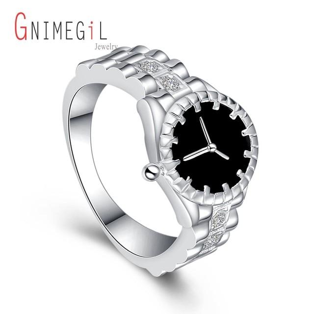 GNIMEGIL Wholesale Fashion Silver Color Wedding Anniversary Watch