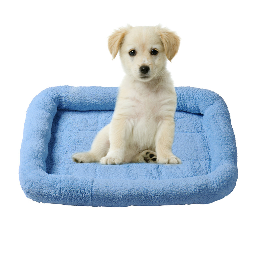 cashmere Dog Bed Warm Bed Pad Soft Puppy Sleeping Nest 2 size 4 color 1pcs Pet supplies