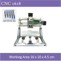 Mini CNC 1610 500mw Laser CNC Engraving Machine Pcb Milling Wood Router