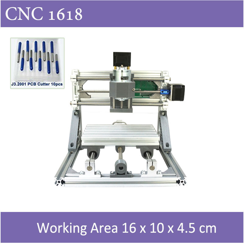 Mini CNC 1610 500mw Laser CNC Engraving Machine Pcb Milling Wood Router