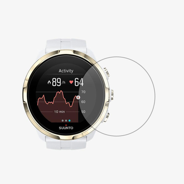 الزجاج المقسى طبقة رقيقة واقية واضحة الحرس حماية ل Suunto المتقشف الرياضة المعصم ساعة HR Smartwatch واقي للشاشة غطاء