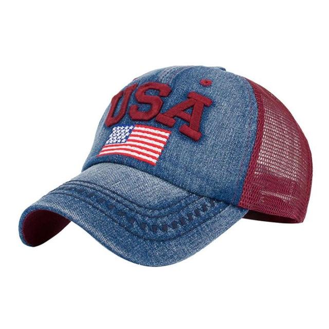 New2017 nuevo estilo mujeres bandera americana gorra de béisbol Unisex  Snapback Hip Hop sombrero plano gorra 2cf3f331451b