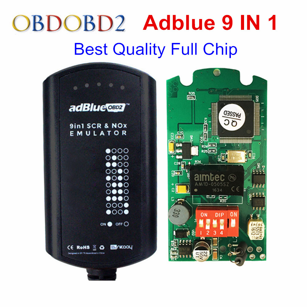 AdBlue Emulator 9 IN 1 Full Chip Support Euro4&5 Adblue with NOx Sensor 9IN1 Update of Adblue 7 in 1 8 in 1 Adblue 9in1 2017 newest truck adblue emulator 8 in 1 super quality for mercedes man iveco daf volvo renault and f ord adblue emulator 8 in 1