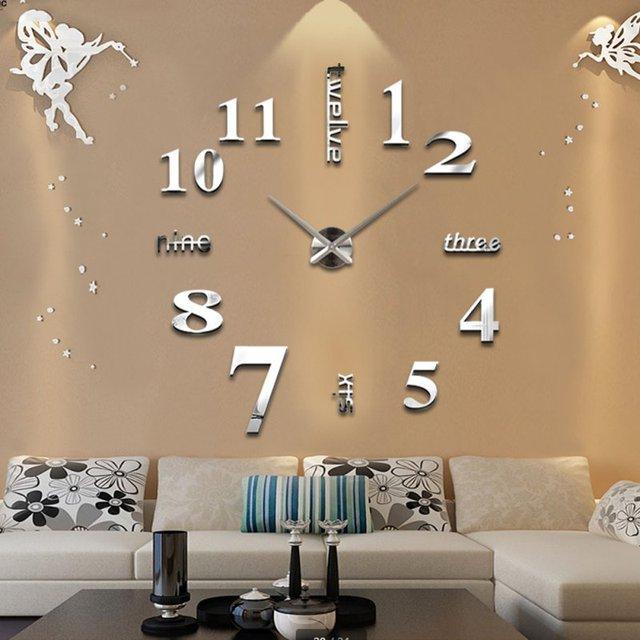 Moderno diy orologio da parete grande orologio 3d superficie a ...