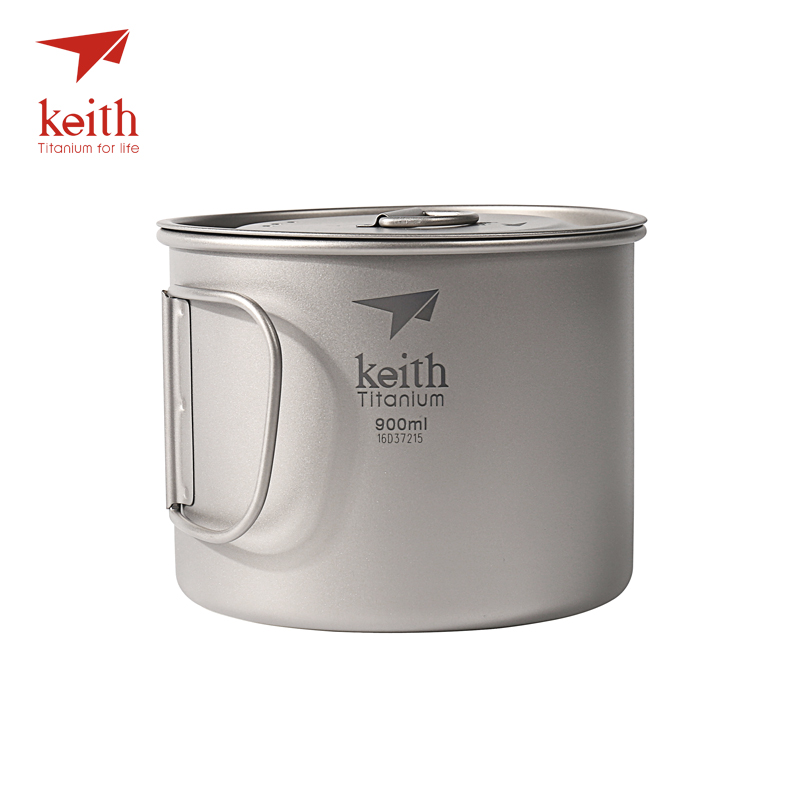 Keith 3 in 1 Ultralight Titanium Pot Outdoor Camping Titanium Bowl Lightweight Titanium Cup 300ml -900ml keith ti5338 ultralight titanium bowl with large capacity 900ml