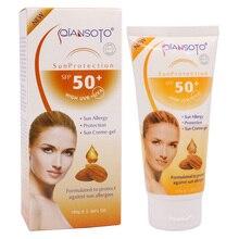 Миндальный солнцезащитный крем Защита от солнца защита от аллергии крем-гель Высокая UVB+ UVA SPF 50+ водостойкий Сверхлегкий 100 г крем для лица